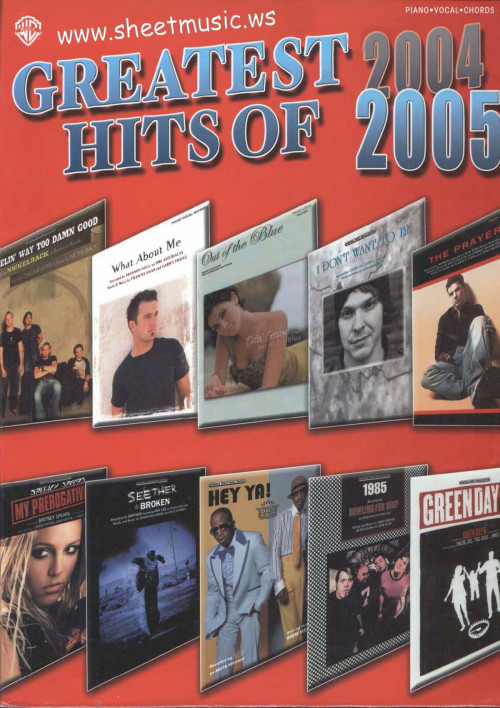 Greatest-Hits-Of-2004-2005-Songbook. Piano-Vocal-Guitar sheet music